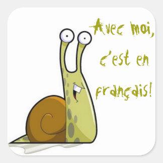 Französische Klassen-Aufkleber Quadratischer Aufkleber