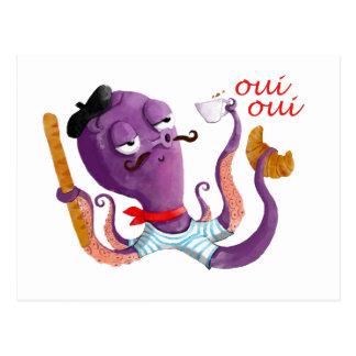 Französische Krake Postkarte