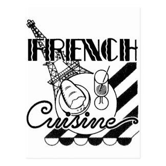 Französische Küche Postkarte