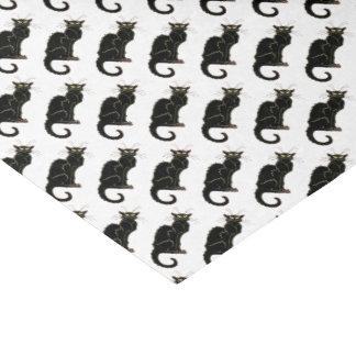 Französische Kunst Nouveau schwarze Katze - Seidenpapier