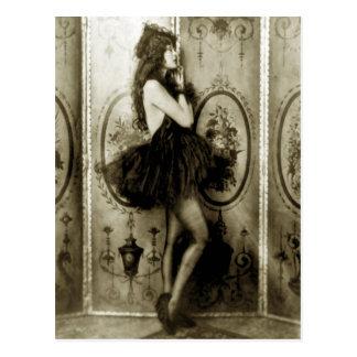 Französische Mädchen-Foto-Postkarten Postkarte