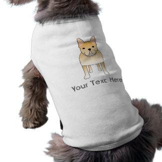 Französische Sahnebulldogge. HundeCartoon Ärmelfreies Hunde-Shirt