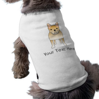 Französische Sahnebulldogge. HundeCartoon Shirt