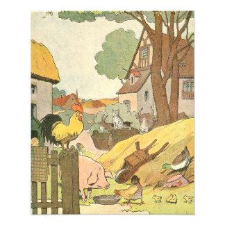 Französische Vieh illustriert Fotodruck