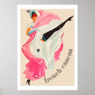 Französischer Cancan (Vintage französische Poster