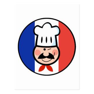 Französischer Koch Postkarte