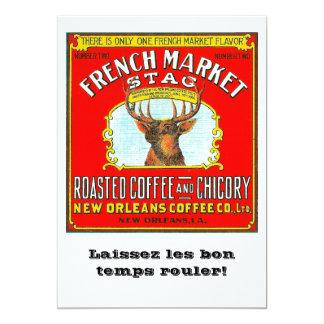 Französischer Markt-Hirsch Karte