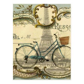 französischer moderner Vintager Turm Fahrradparis Postkarte
