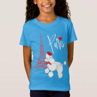 Französischer Pudel-superniedliches Liebe-Paris T-Shirt