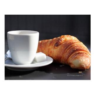 französisches Frühstück 2 Postkarte