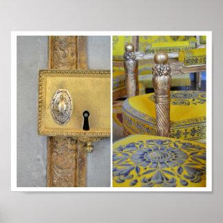 Französisches Gold u. gelbes Tür-u. Poster