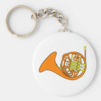 Französisches Horn Keychain Schlüsselanhänger
