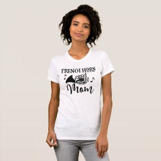 Französisches Horn-Mamma-marschierendes T-Shirt