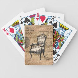 französisches Land scripts Leinwand Bicycle Spielkarten