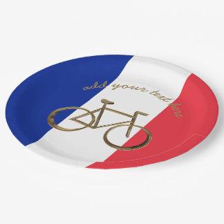 Französisches Pappteller 22,9 Cm