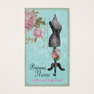 Französisches rosiges Mannequin Visitenkarte