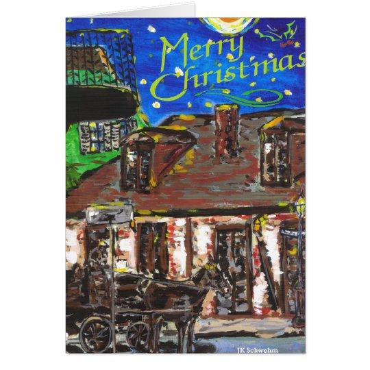 Französisches Viertel-Weihnachtskarte Karte