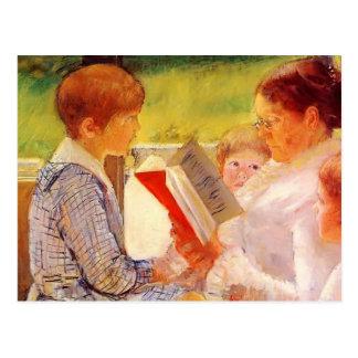 Frau Cassatt Reading Mary-Cassatt- zu den Postkarte