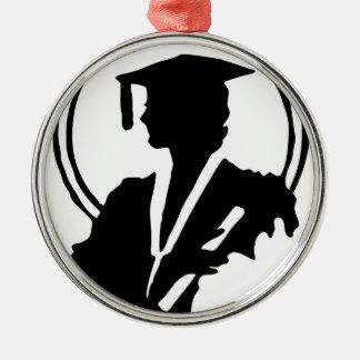 Frau-graduierte Silhouette Silbernes Ornament