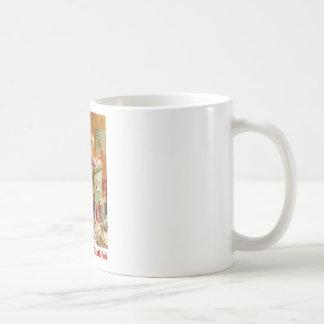 Frau Klaus u. die Elfe las Post beim Nordpol Kaffeetasse