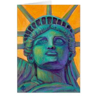 Frau Liberty Mitteilungskarte