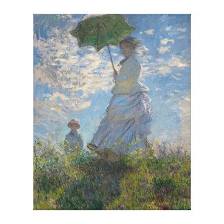 Frau mit einem Sonnenschirm durch Claude Monet Leinwanddruck