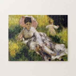 Frau mit Sonnenschirm Renoir schöner Kunst