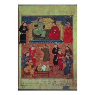 Frau Supp. Pers.Arghan Khan mit zwei von seinem Poster