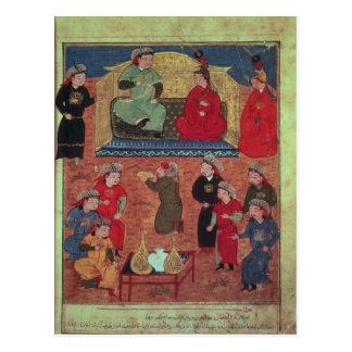 Frau Supp. Pers.Arghan Khan mit zwei von seinem Postkarte