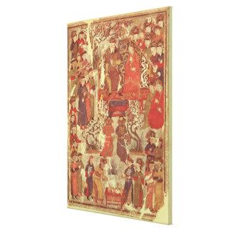 Frau Supp. Pers.Genghis Khan und seine Ehefrau Leinwand Drucke