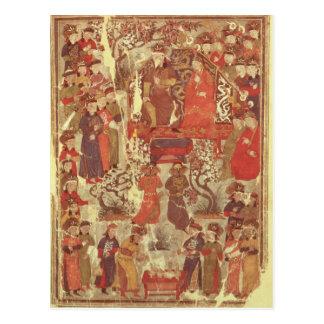 Frau Supp. Pers.Genghis Khan und seine Ehefrau Postkarte