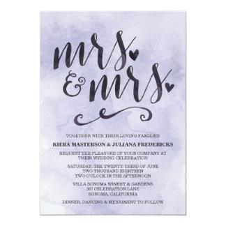 Frau u. Frau Lesbian Wedding Invitation 12,7 X 17,8 Cm Einladungskarte
