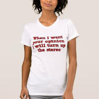 Frau und Damen-Meinungs-T - Shirt