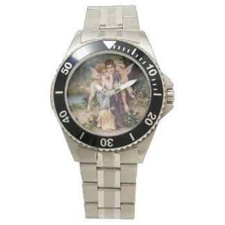 Frau und Engel Uhr