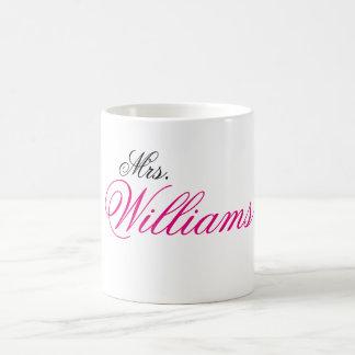 Frau Williams Kaffeetasse