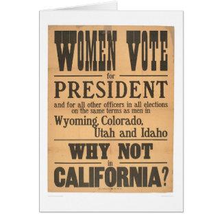 Frauen-Abstimmungs-Breitseite (1873A) Karte