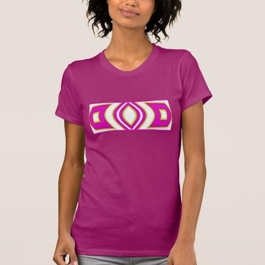 Frauen des Mode-Shirt-4 auf Lila, rosa, weiß T-Shirt