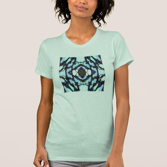 Frauen des Mosaik-Mode-Shirt-4 auf T-Shirt