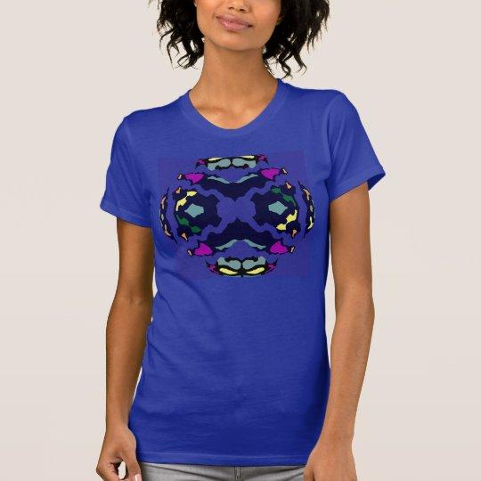 Frauen des Regenbogen-verrückte Mode-Shirt-4 auf T-Shirt