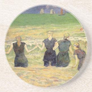 Frauen, die Dieppe durch Paul Gauguin baden Sandstein Untersetzer