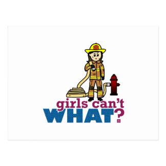 Frauen-Feuerwehrmann Postkarten