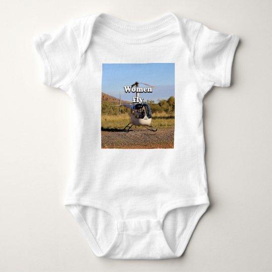 Frauen fliegen: Hubschrauber (weiße) 2 Baby Strampler