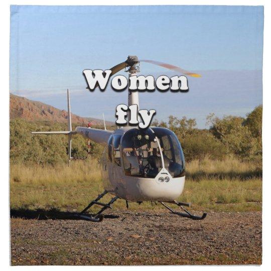 Frauen fliegen: Hubschrauber (weiße) 2 Bedruckte Serviette