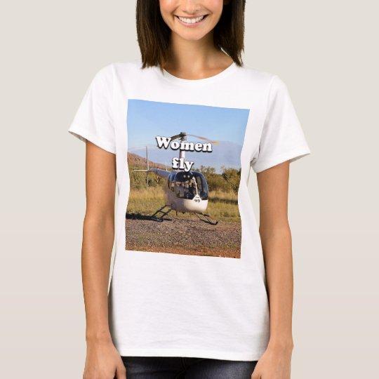 Frauen fliegen: Hubschrauber (weiße) 2 T-Shirt