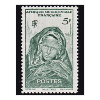 Frauen französische Kolonien-der Vintagen Postkarte