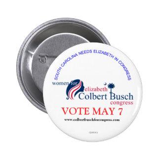 Frauen für Elizabeth Colbert Busch Runder Button 5,1 Cm