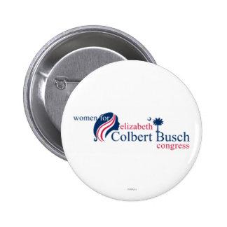 Frauen für Elizabeth Colbert Busch Runder Button 5,7 Cm