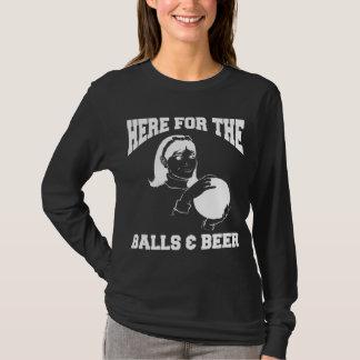 Frauen hier für die Bälle u. Bier-Bowling T-Shirt