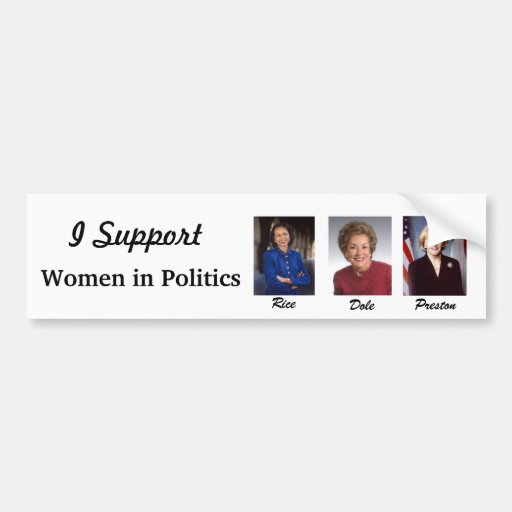 Frauen in den Politiken Autoaufkleber