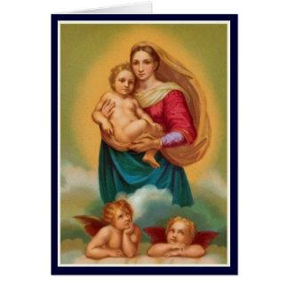 Frauen in der Bibel - Sistine Madonna Karte